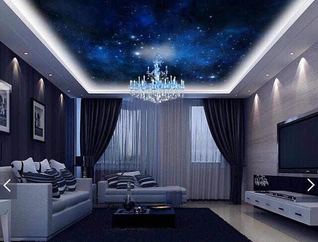 3D Night Sky View Ceiling WallPaper Murals Wall Print Decal Deco AJ WALLPAPER AU