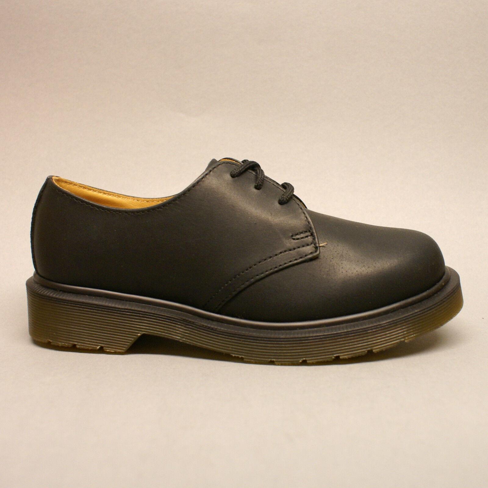 Dr. Martens 1461PW Black Greasy 11839001 3-Loch Halbschuhe schwarz Leder