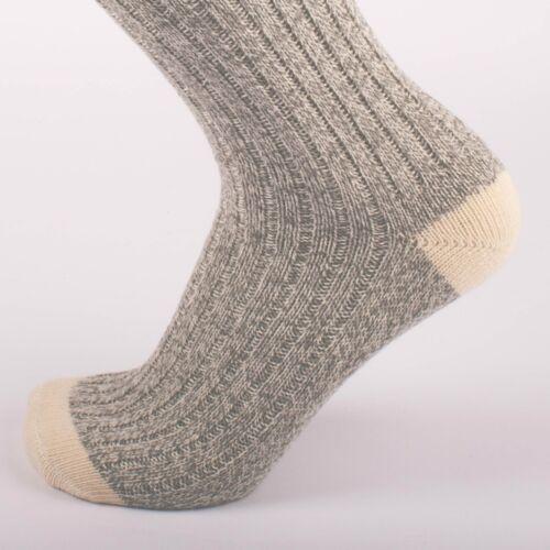 Kodiak Ladies Grey and Natural Red Crew Socks 2 Pairs