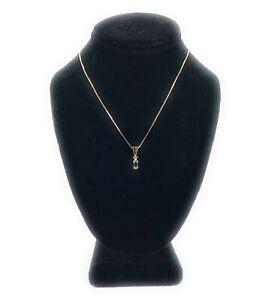 14K-Yellow-Gold-Sapphire-amp-Diamond-Pendant-Necklace