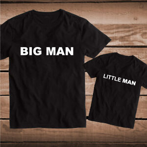 Big Man Little Man Tees T-shirts Tee Father and Son Matching T-shirt Gifts, bb98