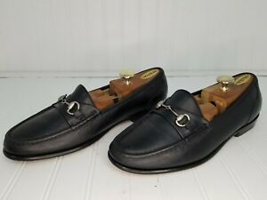 Mens-Black-Leather-Horsebit-Dress-Loafers-Size-13-D-Nice