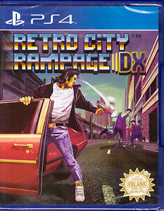 Retro-City-Rampage-DX-Physical-Copy-PlayStation-4-PS4-Action-Carjacking-NEW