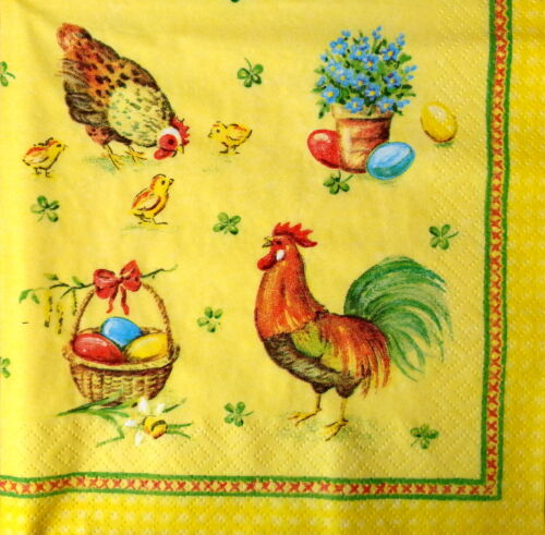 Lunch for Decoupage,Easter 6 4 Single Vintage Table Paper Napkins Decopatch