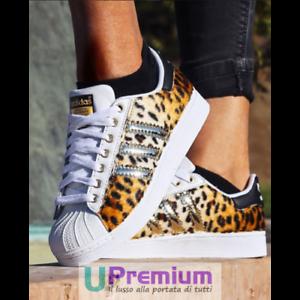 Adidas-Superstar-Leo-Dmc-Prodotto-Customizzato-Scarpe-ORIGINALI-100-ITALIA