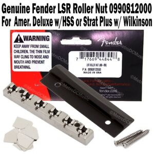 genuine fender lsr roller nut american deluxe strat plus wilkinson 0990812000 ebay. Black Bedroom Furniture Sets. Home Design Ideas