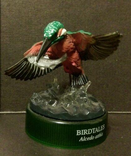 RARE Kaiyodo Birdtales Japanese Kingfisher Hunting Fish Bird Figure