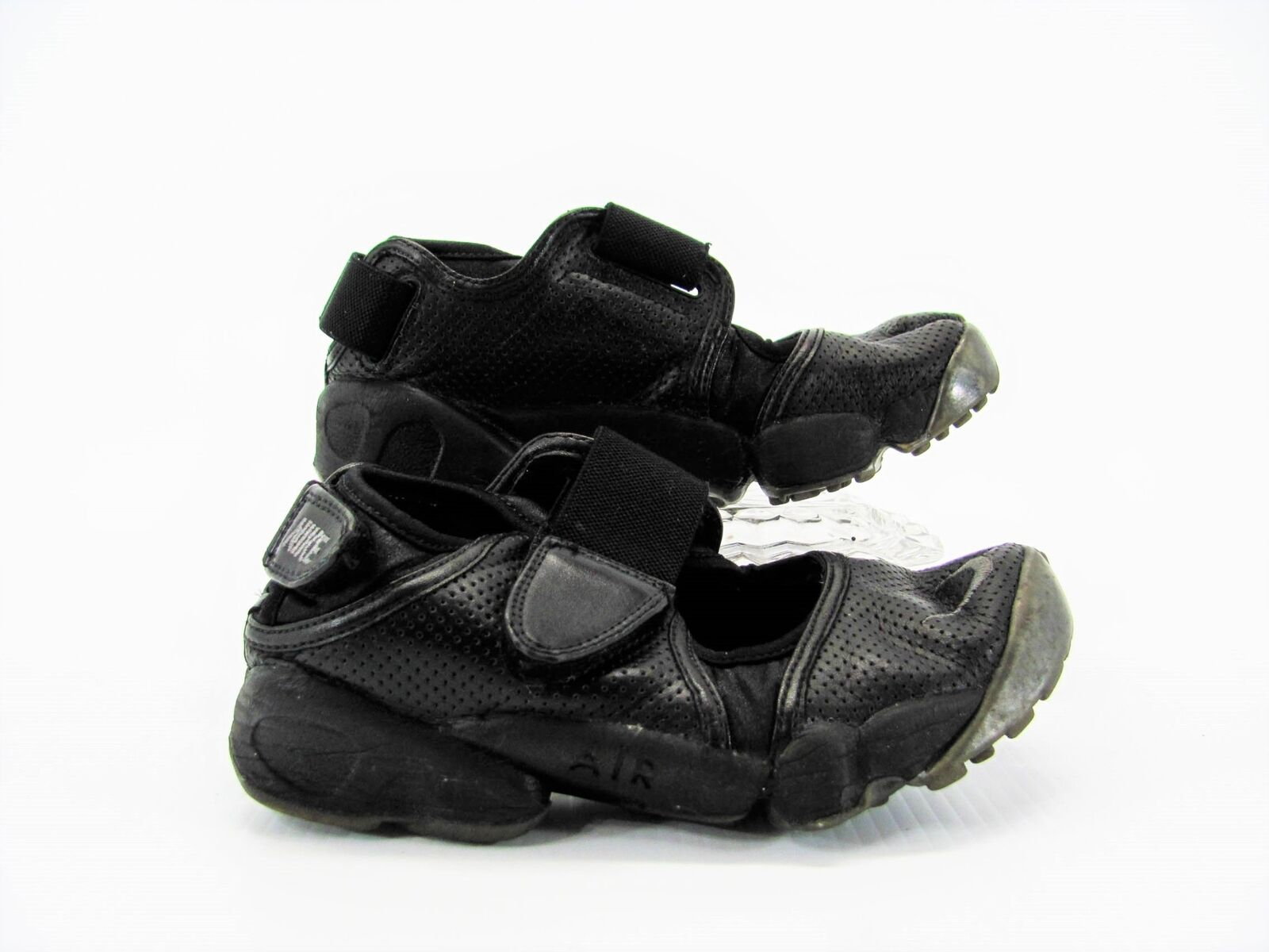 Nike Air Rift Women Black Split Toe Shoe 6M Pre Owned GQ