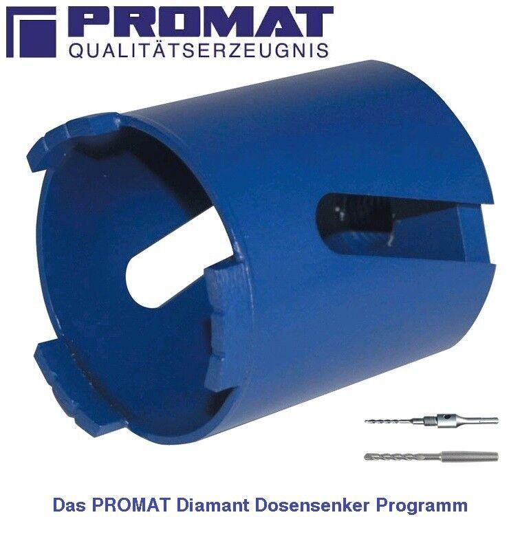 PROMAT Laser Diamant Dosensenker Bohrkrone Ø 68 od. 82 mm -für harte Materialien