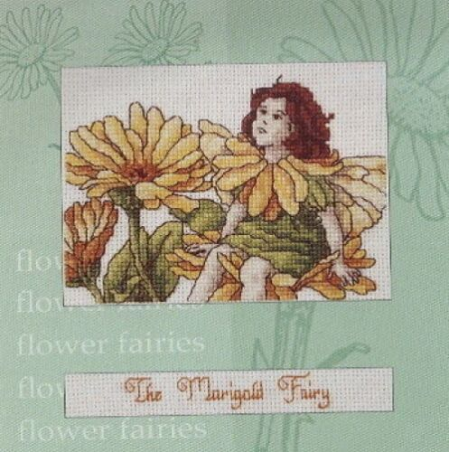 "Marigold Fairy Card Cross Stitch Kit Flower Fairies 6.5/"" x 6.5/"" DMC"