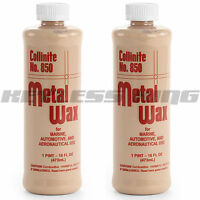 2 Collinite 850 Liquid Metal Wax Polish 16oz Pint 850 Cleaner Steel