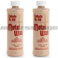 2 Collinite 850 Liquid Metal Wax Polish 16oz Pint 850 Cleaner Steel