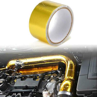 "High Temperature Heat Shield Wrap Tape 2/""x83/' Roll Self Adhesive Reflective"