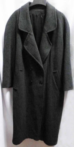 Vintage Gray Wool Top Coat Warm Heavyweight Overc… - image 1