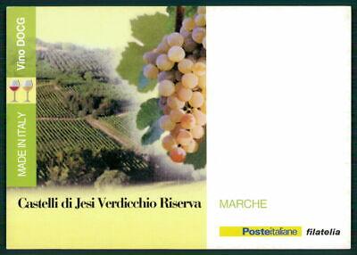 """Italien Werbekarte """"made In Italy"""" Weinanbau Wein Wine Trauben Marche Ed61"""