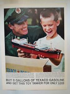 TEXACO TOY TANKER SHIP NORTH DAKOTA 1961 MAGAZINE AD