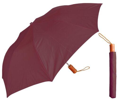 "RainStoppers Rain//Sun Lot of 12-42/"" Arc Solid Collapsible Auto-Open Umbrella"