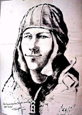 Yuri Gargarin - First Man In Space - Russia - Italy Poster 1961 - Original Rare