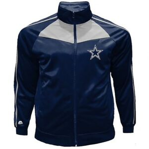 Dallas-Cowboys-Men-s-Big-amp-Tall-Tricot-Track-Jacket-Size-3XL-Navy-White-New-WT