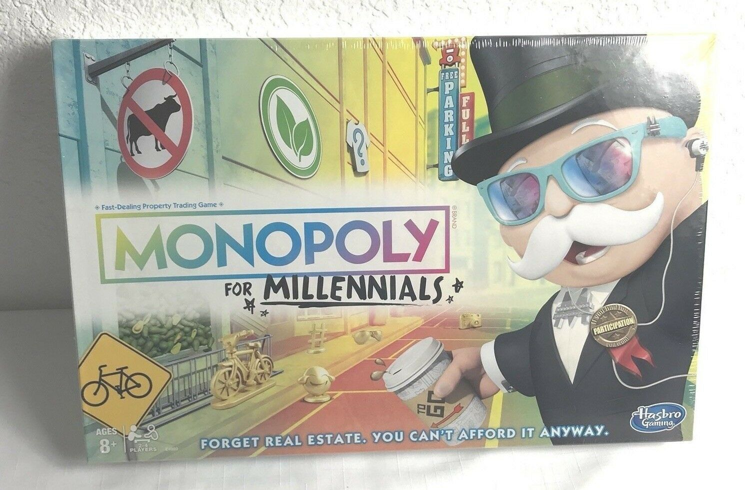 Monopoly for Millennials Board Game by Hasbro NEW Free Shipping