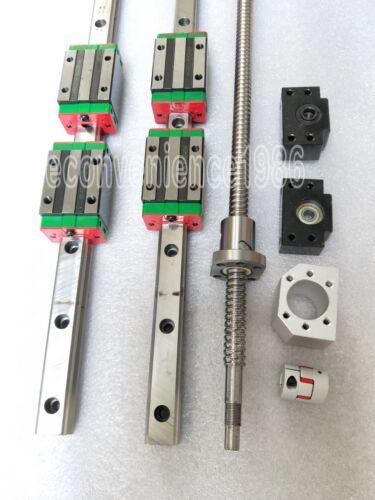 HGR15-1000mm Hiwin Linear rail /& HGH15CA /&RM1605-1000mm Ballscrew/&BF12//BK12 Kit