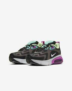 Nike-Air-Max-200-UK-Size-5-Womens-Trainers-Black-Purple-Shoes