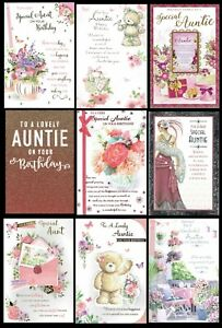 AUNTIE or AUNT Quality BIRTHDAY CARD ~ With FABULOUS VERSES ~ CHOICE OF DESIGN