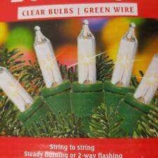 9802315 Celebrations Mini Icicle Lights 100 Lights Clear Bulbs 8.5/' Fuse Ace No