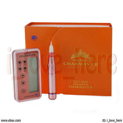 Gold Permanent Eyebrow Makeup &Body Tattoo Rotary Pen Pretty Machine Eyeline Lip