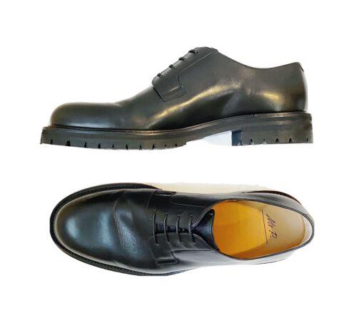 Mr. P Mens Jacques Black Leather Derby Shoes Size