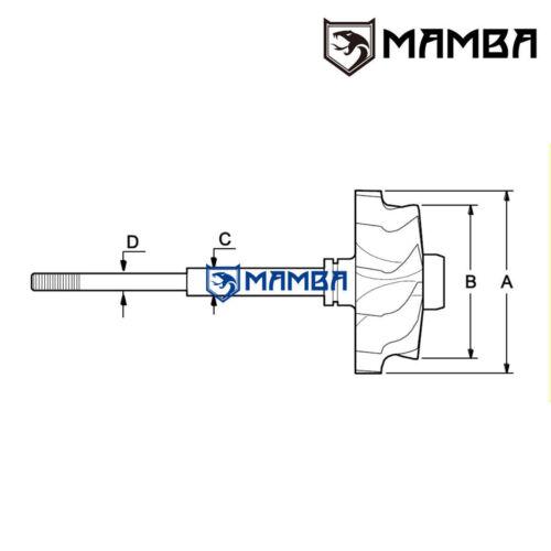 AUDI S4 RS4 42//50 MAMBA 9 Blade High Flow Turbine Whee BorgWarner K04-025//026
