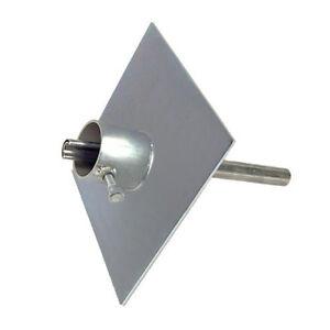 Telescoping-Antenna-Mast-Pole-Ground-Mount-Heavy-Duty-Base-Plate-Easy-Up-EZ-32A