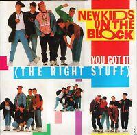 "NEW KIDS ON THE BLOCK you got it the right stuff/instrumental BLOCK2 7"" PS EX/EX"