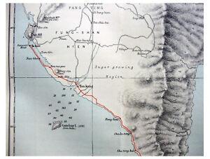 1885-Beazeley-LITTLE-KNOWN-FORMOSA-Takow-SOUTH-CAPE-Colour-Map-1