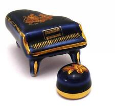 Limoges France Original anni 60/70 Dollhouse Pianofort con sgabell Blu/Oro OMA19