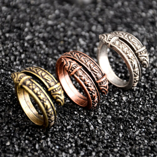 Norse Viking Serpent Anneau Bande Hommes Valknut Celtics Anneaux Odin Ring Jewelry
