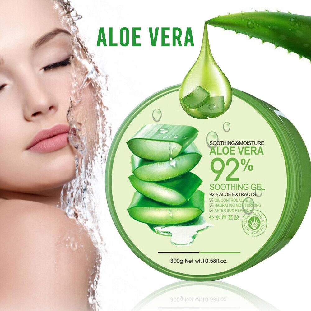 Natural Aloe Vera Smooth Gel Acne Treatment Face Cream Hydrating Moist Skin Care 2