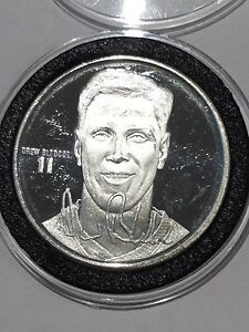 Drew Bledsoe QB New England Patriots 1 Troy Oz .999 Fine Silver Round Coin Medal