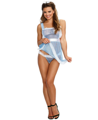 New Dreamgirl 11050 Gingham Kansas Cutie Bedroom Costume