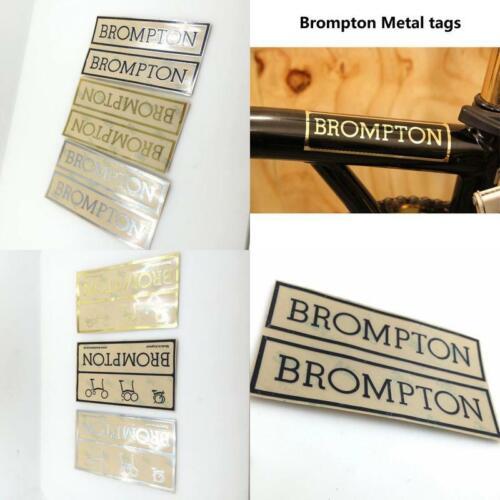 2Pcs Bike Stickers For Brompton Folding Bike Metal Sticker Tags Personalized Met