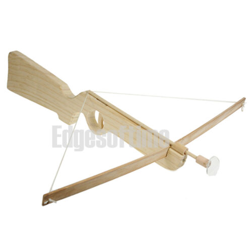 TRADITIONAL WOODEN CHILDRENS TOY ROLE PLAY CROSSBOW /& 3 ARROWS SET 40CM AGE 6