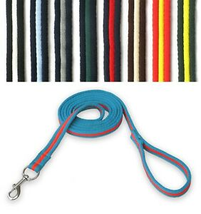 GEE-TAC-HORSE-padded-lead-ROPE-MULTI-COLOR-LUNGE-LINE-2-4-mt-DOG-LEAD-TRACKING