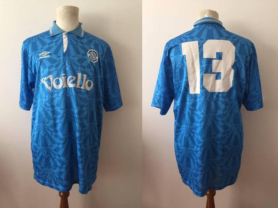 Napoli 1992 1993 maglie INDOSSATA MACTH WORN SHIRT calcio Umbro