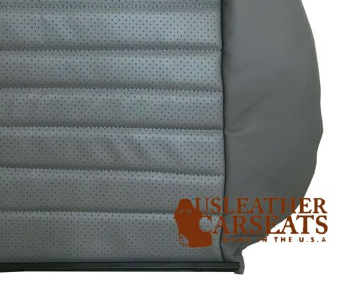 2001 2002 Ford Mustang GT V8 2 DR Coupe Driver LEAN BACK Leather Seat Cover Gray
