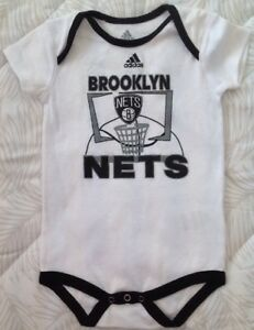 241223f8a Image is loading adidas-Brooklyn-Nets-Infant-White-Primary-Logo-Bodysuit-