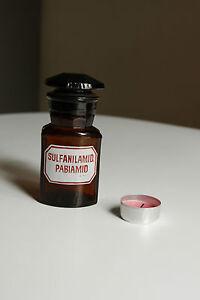 Pa Rund Mit 4 Kanten,alt,emailliert Apothekerflasche Sulfanilamid Form Selten
