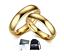 Coppia-Fedine-4mm-Acciaio-Color-Oro-semplici-con-incisione-fidanzamento miniatura 1
