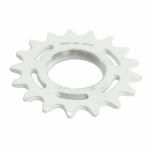 Taiwan Made 18T Tooth 7075 Alloy Fixie Fixed Gear Track Cog White