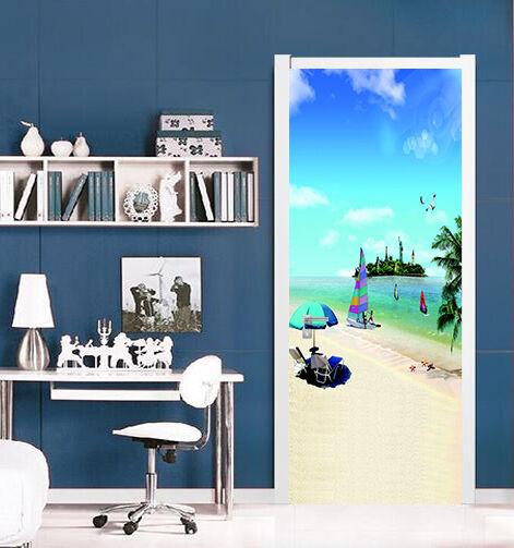 3D Strand 78 Tür Wandmalerei Wandaufkleber Aufkleber AJ WALLPAPER DE Kyra  | Sehr gute Qualität  | Mittlere Kosten  | Spielen Sie auf der ganzen Welt und verhindern Sie, dass Ihre Kinder einsam sind