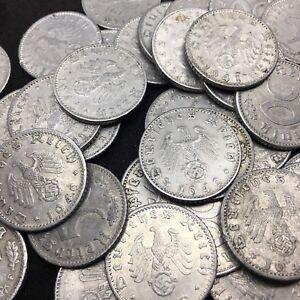 Rare WW2 German 50 RP Reichspfennig 3 Reich Aluminum Nazi Coin Buy 3 Get 1 Free